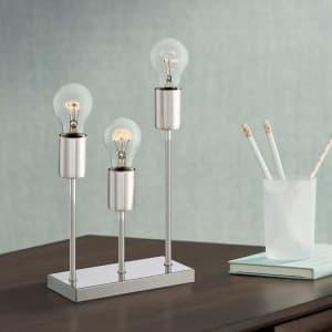 "360 Lighting Gabi 11"" Metal 3-Light Accent Table Lamp for $28"