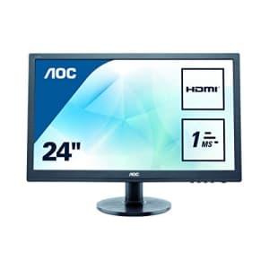 """AOC e2460Sh 24"""" 16:9 Black W-LED 1920x1080, TN 170/160 (CR10), 1000:1, 1ms GtG, Speakers, VESA for $198"""