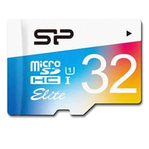 Silicon Power 32GB Up to 85MB/S Microsdhc UHS-1 Class10, Elite Flash Memory Card with Adaptor for $11