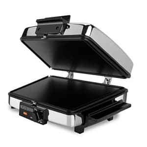 Black + Decker BLACK+DECKER 3-in-1 Waffle Maker with Nonstick Reversible Plates, Stainless Steel, G48TD for $87