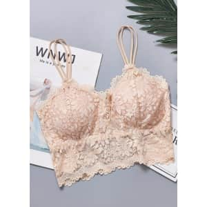 Museslove Women's Padded Push-Up Lace Bras: 3 for $17.71