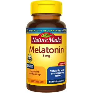 Nature Made Melatonin 3mg Tablets 240-Count Bottle for $4.04 via Sub & Save