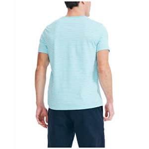 Nautica Men's Striped Crewneck T-Shirt, Mirage Blue, Large for $15