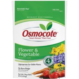 Osmocote Smart-Release Flower and Vegetable Plant Food 8-lb. Bag for $16