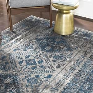 "Artistic Weavers Desta Area Rug, 5'3"" x 7'3"", Blue/Grey for $115"