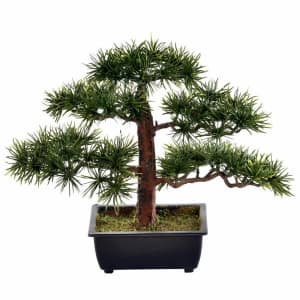 Vickerman Artificial Potted Pine Bonsai Tree for $21