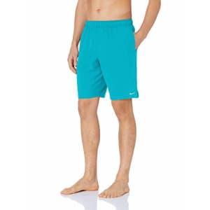 "Nike Swim Men's Solid Lap 9"" Volley Short Swim Trunk, Oracle Aqua, Small for $39"
