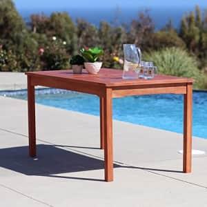 Vifah Malibu Outdoor Rectangular Patio Dining Table for $215