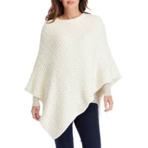New Directions Women's Chenille Poncho for $15