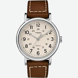 Timex Men's Weekender 2-Piece 40mm Leather Strap Watch for $45
