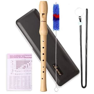 Asmuse Maple 8-Hole German Style Soprano Recorder for $8