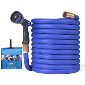 Faimikit 25-Foot Expandable Garden Hose with Spray Nozzle for $26