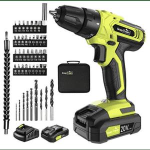SnapFresh 20V Cordless Drill Combo Kit for $90