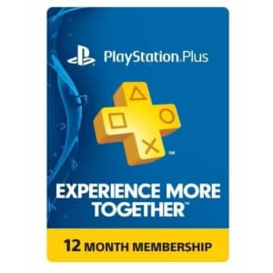 Sony PlayStation Plus 1-Year Membership for $36