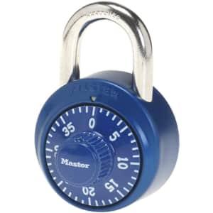 Master Lock Combination Padlock for $4