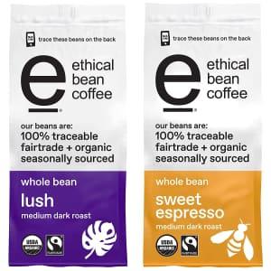 Ethical Bean Coffee 12-oz. Whole Bean 2-Pack for $12 via Sub & Save