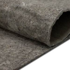 """Mohawk Home Dual Surface Felt and Latex Non Slip Rug Pad, 1/4"""" Thick, 6'x9' Oval, Gray for $64"""