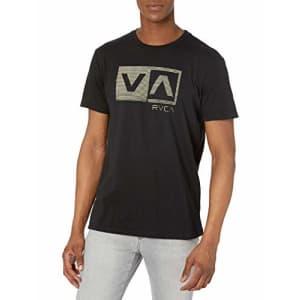 RVCA Men's Graphic Crew T-Shirt, Black, Medium for $25