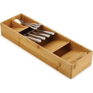 Joseph Joseph DrawerStore Bamboo Cutlery Organizer for $18
