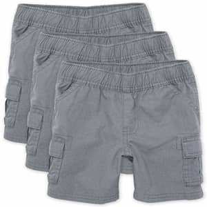 The Children's Place Baby Boys and Toddler Boys Pull On Cargo Shorts, Storm, 2T for $18