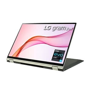 """LG Gram 16T90P - 16"""" WQXGA (2560x1600) 2-in-1 Lightweight Touch Display Laptop, Intel evo with 11th for $1,597"""