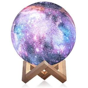 3D Galaxy Moon Lamp for $35