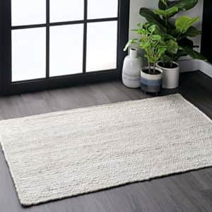 """nuLOOM Rigo Hand Woven Jute Accent Rug, 2' 3"""" x 4', Off-white for $92"""