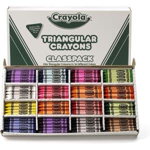 Crayola Triangular Crayon 256-Count Classpack for $44
