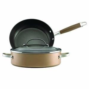 Anolon Advanced Hard Anodized Nonstick Cookware Pots and Pans Set, 3 Piece, Bronze for $80