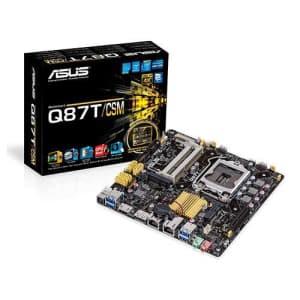 ASUS Mini ITX DDR3 1600 LGA 1150 Motherboard Q87T/CSM for $205