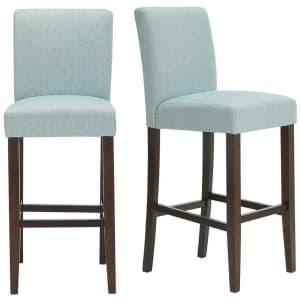 StyleWell Banford Upholstered Bar Stool 2-Pack for $150