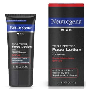 Neutrogena 1.7oz Triple Protect Men's Face Lotion for $4.92 via Sub & Save
