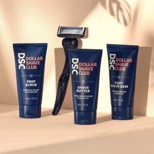 Dollar Shave Club Razor Starter Set for $5