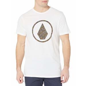Volcom Men's Infillion Short Sleeve Tee Shirt, White, Large for $19