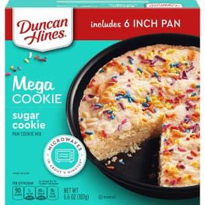 Duncan Hines Mega Cookie Sugar Pan Cookie Mix for $1.87 via Sub & Save