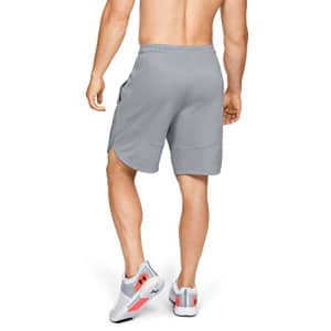 Under Armour Men's Knit Training Shorts, Mod Gray (011)/Black, XX-Large for $40