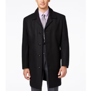 London Fog Men's Coventry Wool-Blend Overcoat for $100
