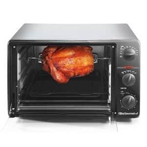Elite Gourmet Rotisserie, Bake, Grill, Broil, Roast, Toast, Keep Warm and Steam, Black for $76
