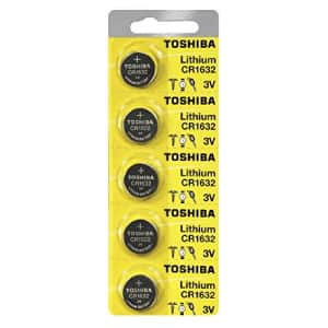 Toshiba CR1632 Battery 3V Lithium Coin Cell (100 Batteries) for $55