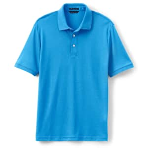 Lands' End Men's Tailored Fit Supima Polo Shirt for $10