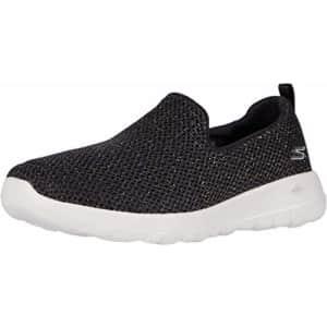 Skechers Women's GO Walk Joy-Highlight Sneaker, Black/Gold, 5 Medium US for $49