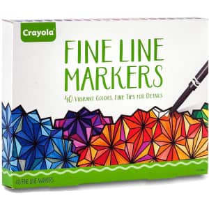 Crayola Fine Line Markers 40-Pack for $11