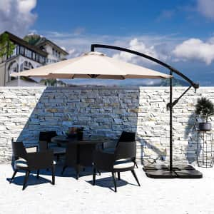 Bumblr 10-Foot Offset Cantilever Hanging Patio Umbrella for $90
