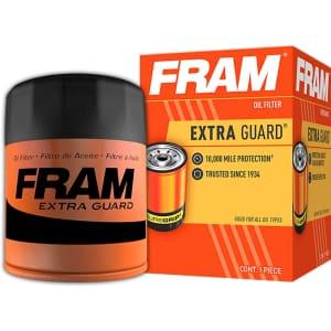FRAM Extra Guard Oil Filter for $4