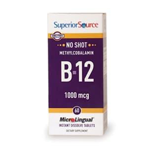 Superior Source No Shot Vitamin B12 Methylcobalamin 1000 mcg Sublingual Tablets - Methyl B12 for $13