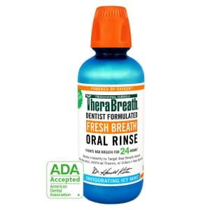 TheraBreath 24-Hour Fresh Breath Oral Rinse 16-oz. Bottle for $8