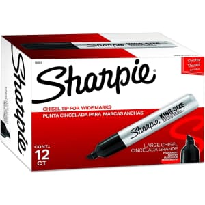 Sharpie King Size Permanent Markers 12-Pack for $14