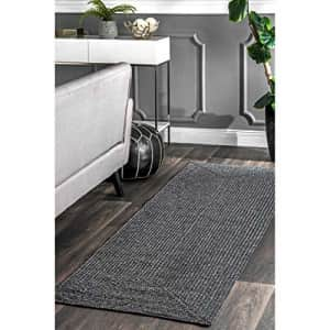 """nuLOOM Lefebvre Braided Indoor/Outdoor Area Rug, 2' 6"""" x 14', Charcoal for $32"""