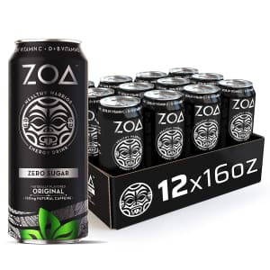 Zoa Zero Sugar Energy Drink 16-oz. Can 12-Pack for $13 via Sub & Save