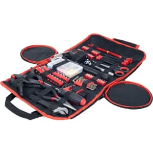 Stalwart 86-Piece Tool Set with Roll-Up Bag for $31